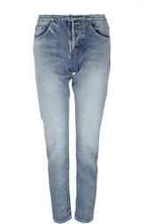 Прямые джинсы с потертостями Saint Laurent
