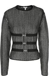 Пуловер с металлизированной нитью и поясом Loewe