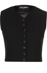 Укороченный жилет на пуговицах Dolce & Gabbana