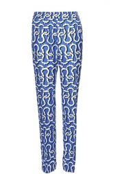 Прямые шелковые брюки с принтом Kenzo