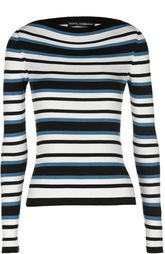 Шелковый вязаный пуловер в полоску Dolce & Gabbana