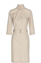 Платье-рубашка с укороченным рукавом и поясом HUGO BOSS Black Label