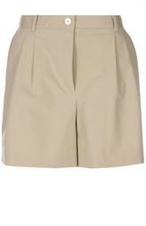 Хлопковые мини-шорты с защипами Dolce & Gabbana