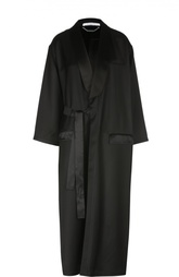 Удлиненное пальто с шелковой отделкой Givenchy