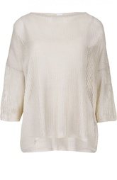 Льняной вязаный пуловер с круглым вырезом M Missoni