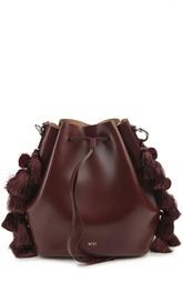 Кожаная торба с помпонами No. 21