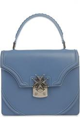 Кожаная сумка с клапаном Satchel Alexander McQueen
