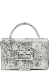 Кожаная сумка с металлизированным покрытием Martin Margiela