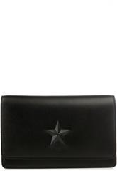 Кожаный клатч с тиснением в форме звезды Pandora Givenchy