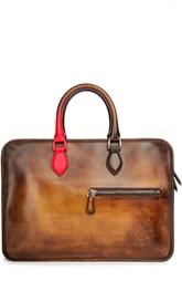 Кожаная сумка для ноутбука с ручным нанесением патинирования Berluti Bags