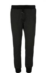 Хлопковые спортивные брюки в горошек Dolce & Gabbana
