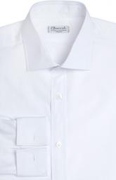 Хлопковая сорочка с итальянским воротником и французскими манжетами Charvet