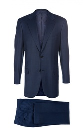 Шерстяной приталенный костюм Brioni