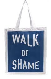 Текстильный шоппер с надписью Walk of Shame