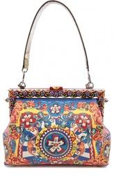Сумка с принтом и отделкой из питона Vanda Dolce & Gabbana
