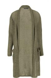 Льняной удлиненный кардиган крупной вязки Polo Ralph Lauren