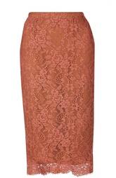 Кружевная юбка-карандаш Kiton