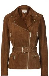Замшевая куртка с косой молнией Michael Michael Kors