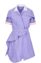 Асимметричное платье-рубашка в полоску Carven