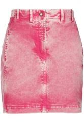 Джинсовая мини-юбка со шнуровкой Roberto Cavalli