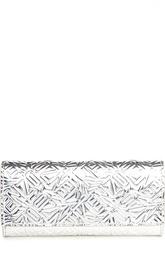Клатч из металлизированной кожи Kenzo