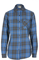 Блуза прямого кроя в клетку с накладным карманом Denim&Supply by Ralph Lauren