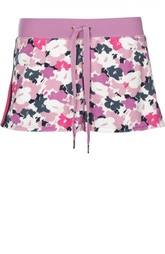 Мини-шорты с эластичным поясом и контрастным принтом Juicy Couture