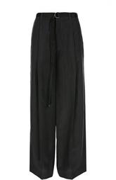 Широкие шелковые брюки с ремнем Joseph