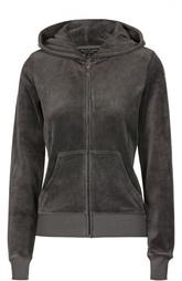 Велюровая куртка на молнии с капюшоном Juicy Couture