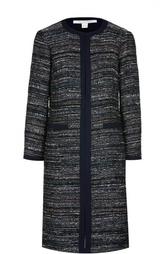 Прямое буклированное пальто с круглым вырезом Diane Von Furstenberg