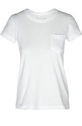 Хлопковая футболка с декоративной вставкой на спинке Sacai