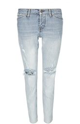 Зауженные джинсы с потертостями Two Women In The World