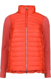 Утепленная куртка с оборкой Moncler