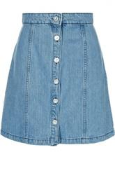 Джинсовая мини-юбка с заклепками Etre Cecile
