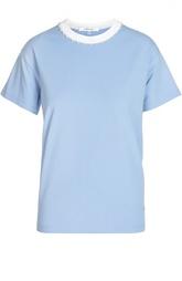 Хлопковая футболка с круглым вырезом Carven