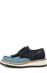 Джинсовые ботинки на невысокой танкетке Givenchy