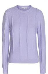 Вязаный пуловер с рельефной отделкой и круглым вырезом Carven
