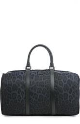 Текстильная сумка с леопардовым принтом Dolce & Gabbana