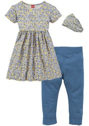 Комплект, 3 части: платье + легинсы + лента для волос KIDOKI