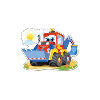 """Пазл  """"Забавный экскаватор"""", 12 деталей MAXI, Castorland"""