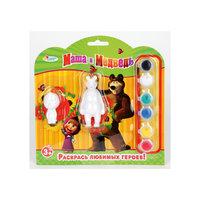 Набор-раскраска, Маша и Медведь,  2 фигурки Играем вместе