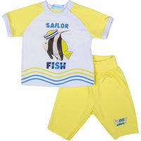 Комплект: футболка и ползунки для мальчика Бимоша