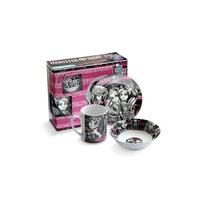Набор посуды керамической в подарочной упаковке, Monster High Детское время
