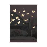 """Наклейки для декора """"Бабочки и стрекозы"""" (светятся в темноте) Room Mates"""