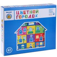 """Конструктор   """"Цветной городок"""" ,41 деталь,  Томик"""