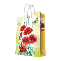 """Подарочный пакет """"Маки"""" 26*32,4*12,7 см Феникс Презент"""