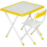 Набор детской складной мебели, бело-желтый Дэми