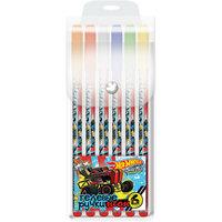 Неоновые гелевые ручки, Hot Wheels, 6 цв. Limpopo