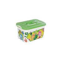 """Ящик для игрушек""""Фиксики"""", 10 л, бело-зеленый Полимербыт"""