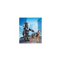 Экстра-набор: Полицейский спецназовец с собакой, PLAYMOBIL Playmobil®